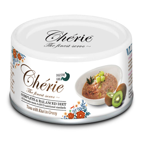 Chérie Digestive Care Cat Food - Tuna with Kiwi in Gravy 80g