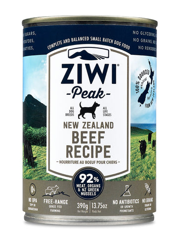 ZiwiPeak Beef Canned Dog Food 390g
