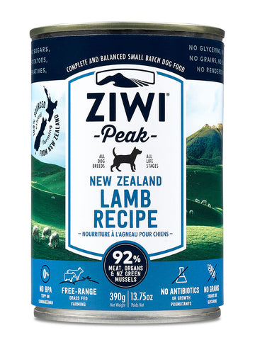 ZiwiPeak Lamb Canned Dog Food 390g