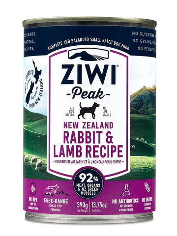 ZiwiPeak Rabbit & Lamb Canned Dog Food 390g