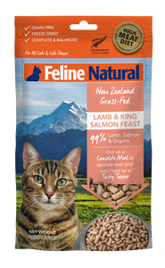 Feline Natural Freeze Dried Lamb & King Salmon Feast 100g
