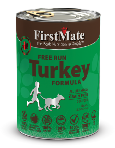 FirstMate Free Run Turkey Formula for Dogs 12.2oz