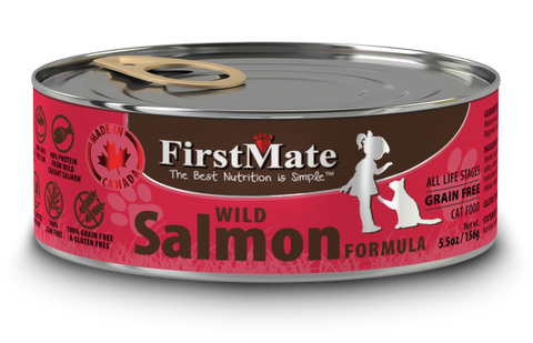 FirstMate Wild Salmon Formula for Cats 5.5oz