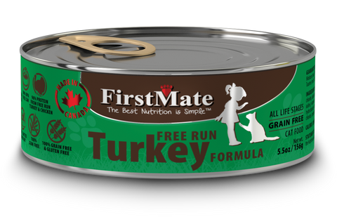 FirstMate Free Run Turkey Formula for Cats 5.5oz