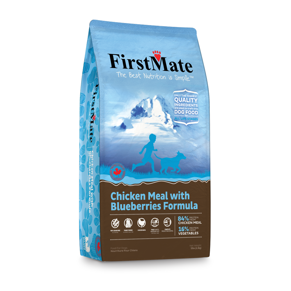 FirstMate Grain Free Dry Food - Chicken with Blueberries for Dogs