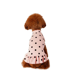 Little Collin Flocking Dot Dress in Milk Pink