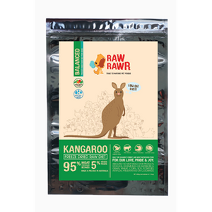 Raw Rawr Freeze Dried Kangaroo Balance Diet for Dogs 400g
