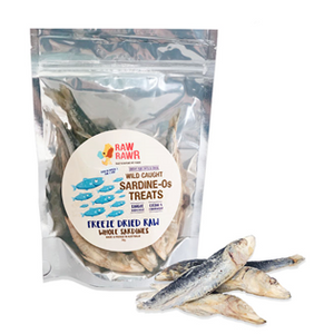 Raw Rawr Freeze Dried Raw Whole Sardines Treats