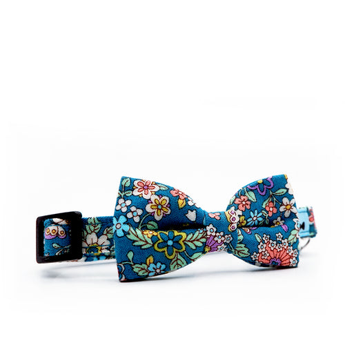 Bowtix Cat Collar with Bowtie - Full Bloom Teal