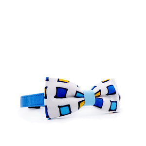 Bowtix Cat Collar with Bowtie - Gem Blocks