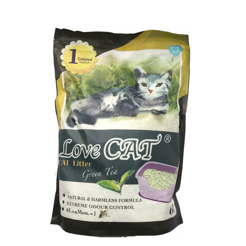 Love Cat Tofu Litter - Green Tea Scent 6L
