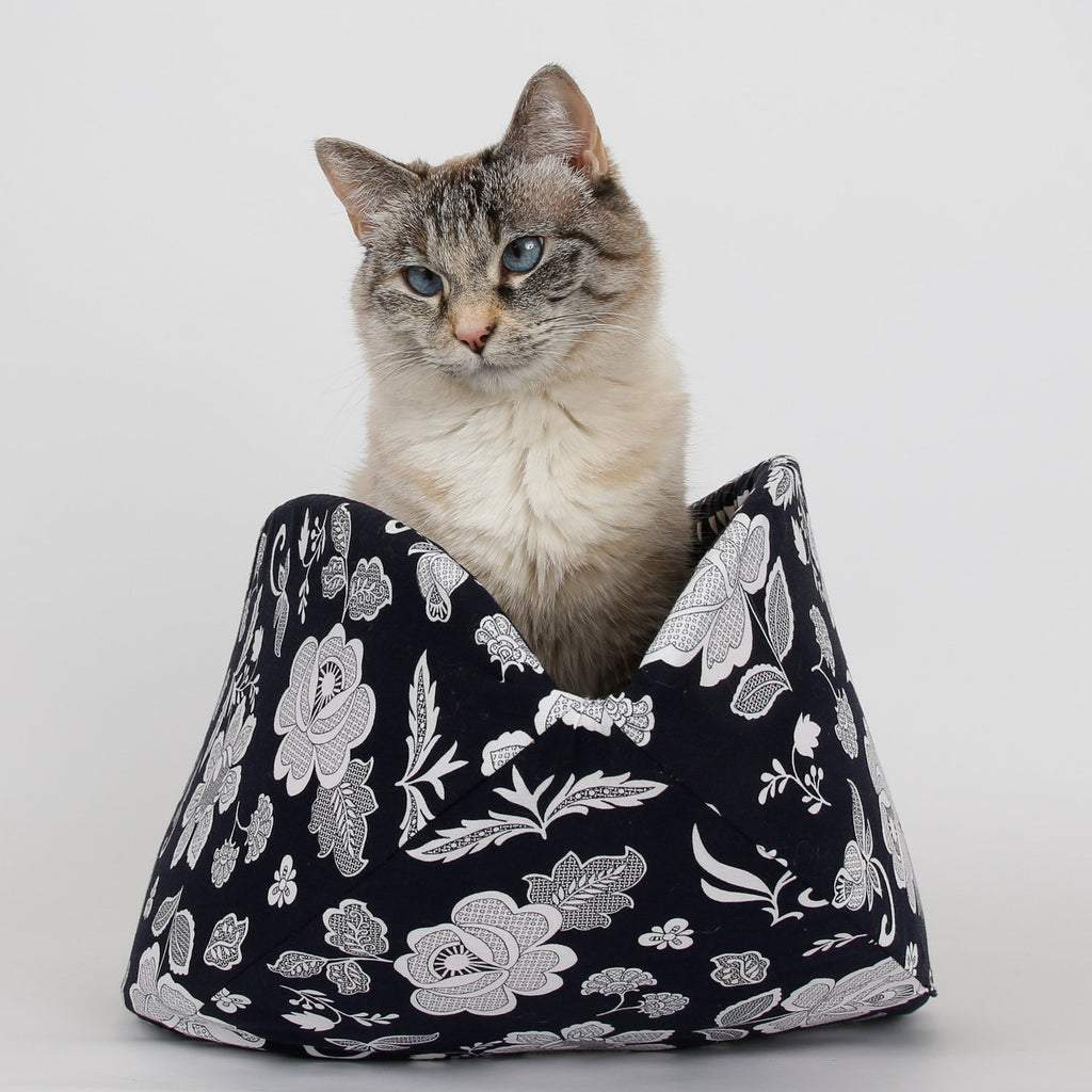The Jumbo Cat Canoe in Navy Lace Floral