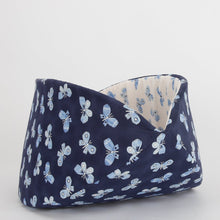 Load image into Gallery viewer, The Jumbo Cat Canoe in Navy & White Butterflies
