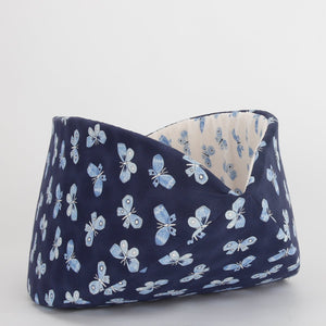 The Jumbo Cat Canoe in Navy & White Butterflies