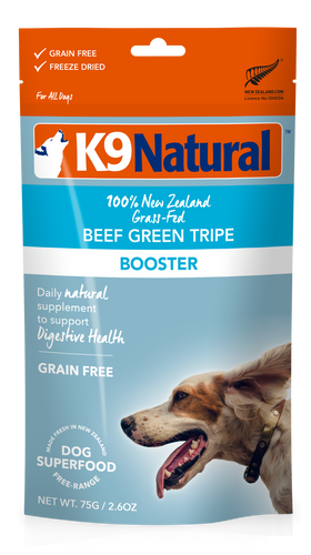K9 Natural Freeze Dried Beef Green Tripe Topper 75g