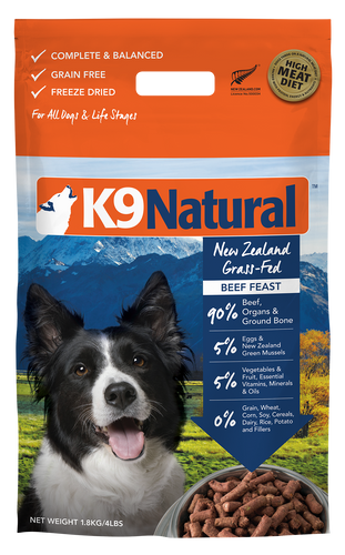 K9 Natural Freeze Dried Beef Feast 1.8kg