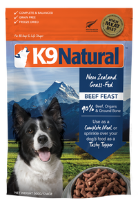 K9 Natural Freeze Dried Beef Feast 500g