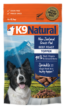 Load image into Gallery viewer, K9 Natural Freeze Dried Beef Feast Topper 142g