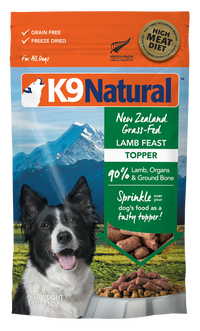 K9 Natural Freeze Dried Lamb Feast Topper 142g