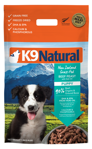 K9 Natural Freeze Dried Beef Feast with Hoki Oil for Puppy 1.8kg
