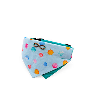 Bowtix Dog Collar with Bandana - Konpeito (Blue)
