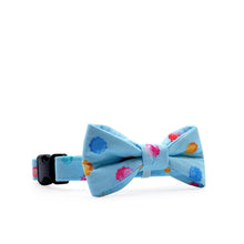 Load image into Gallery viewer, Bowtix Dog Collar with Bowtie - Kiddo Konpeito (Blue)