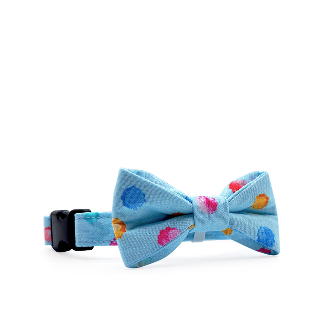 Bowtix Dog Collar with Bowtie - Kiddo Konpeito (Blue)