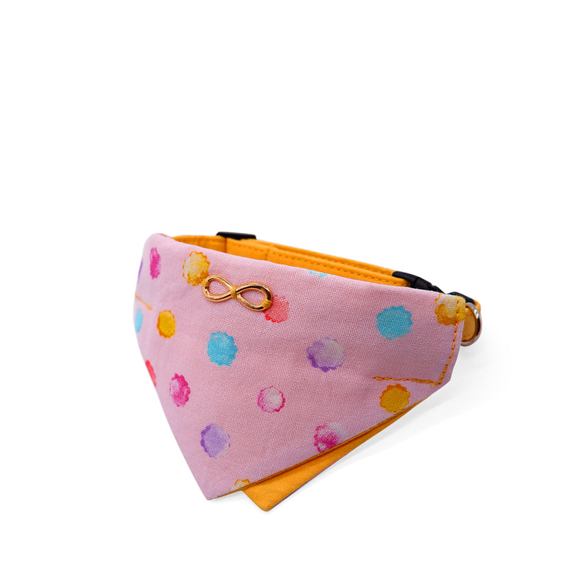 Bowtix Cat Collar with Bandana - Konpeito (Pink)