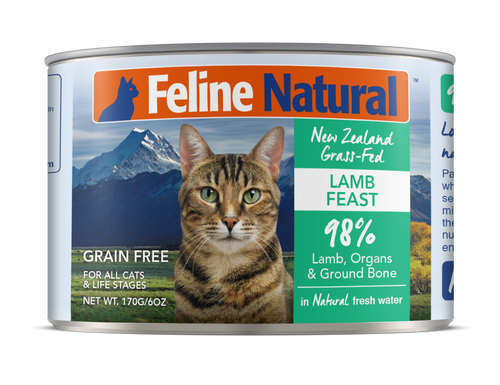 Feline Natural Canned Food - Lamb Feast 170g