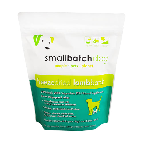 Smallbatch Freeze Dried Lamb Sliders for Dogs