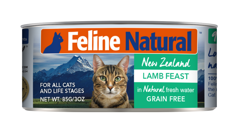 Feline Natural Canned Food - Lamb Feast 85g / 170g