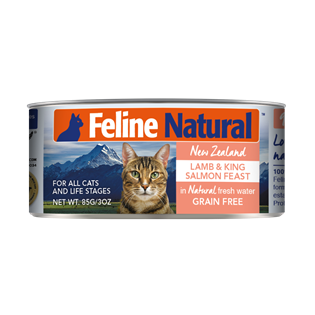 Feline Natural Canned Food - Lamb & Salmon 85g