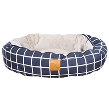 Load image into Gallery viewer, Mog & Bone Reversible Bed - Navy Check