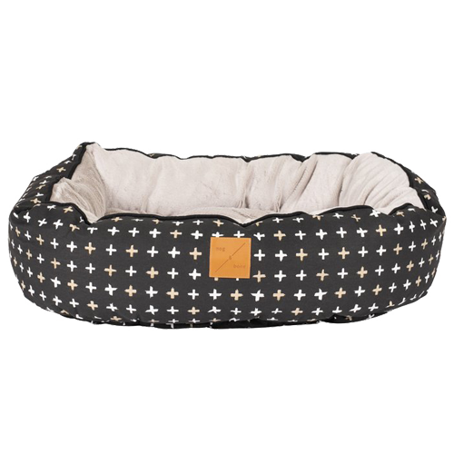 Mog & Bone Reversible Bed - Black Metallic Cross