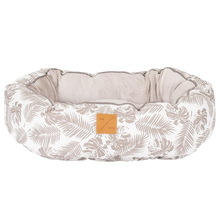 Load image into Gallery viewer, Mog & Bone Reversible Bed - Mocca Tropical Leaves