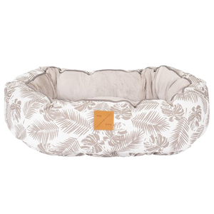 Mog & Bone Reversible Bed - Mocca Tropical Leaves