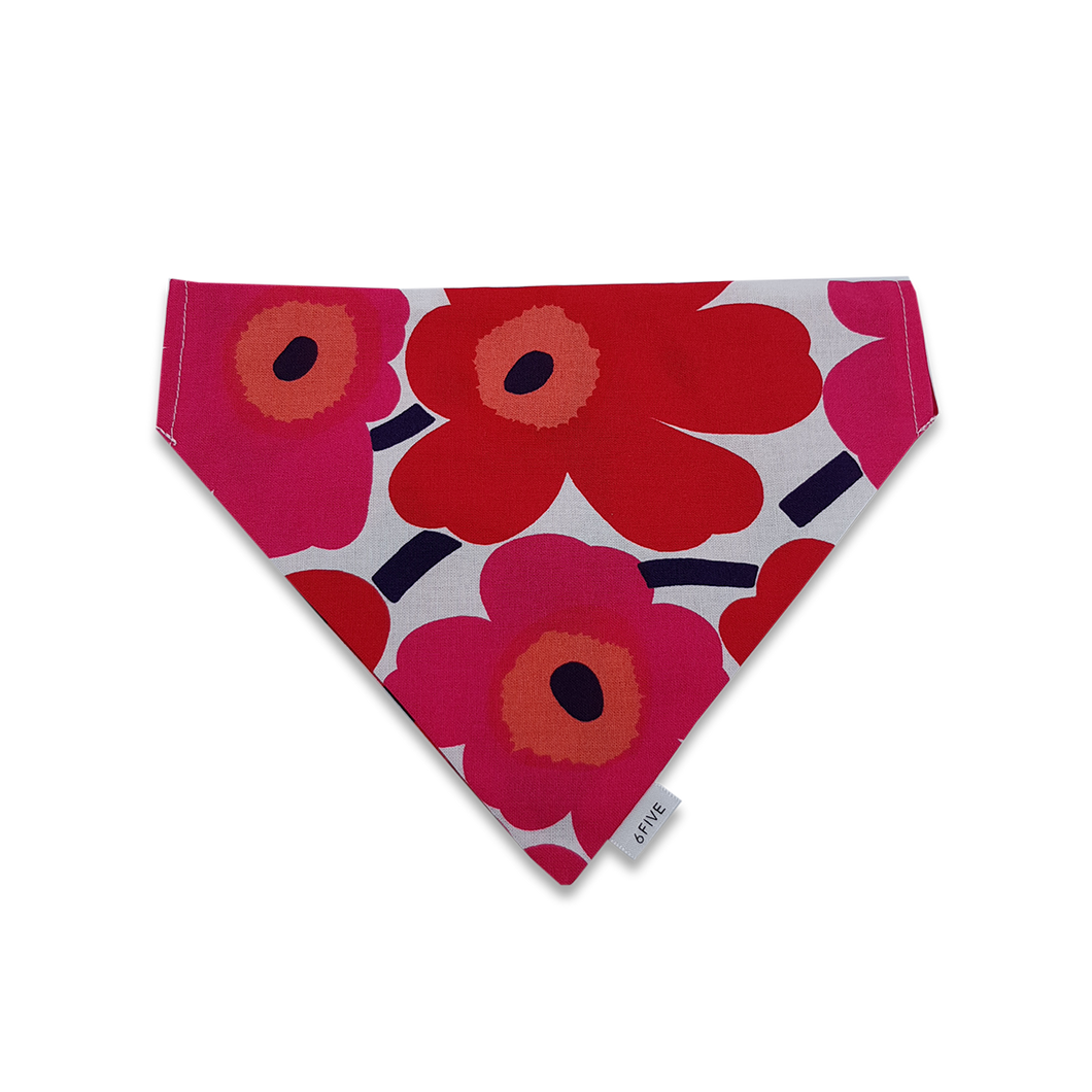 6FIVE Reversible Red Bandana in Marimekko Fabric