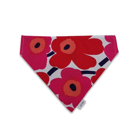 6FIVE Reversible Red Scarf in Marimekko Fabric