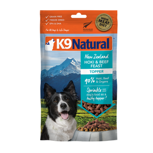 K9 Natural Freeze Dried Beef & Hoki Feast Topper 100g