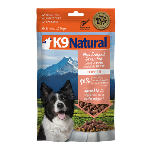 K9 Natural Freeze Dried Lamb & Salmon Feast Topper 100g