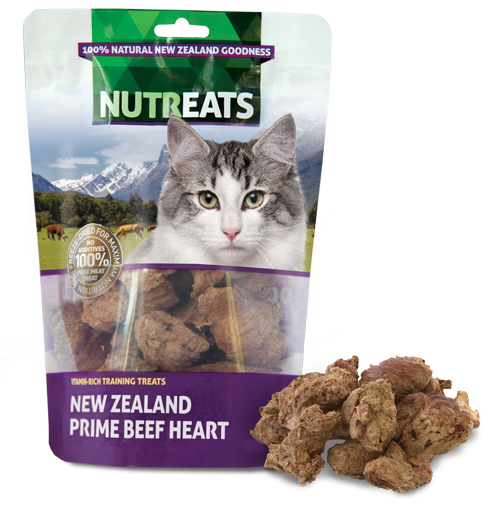 Nutreats Freeze Dried Beef Heart Treats for Cats