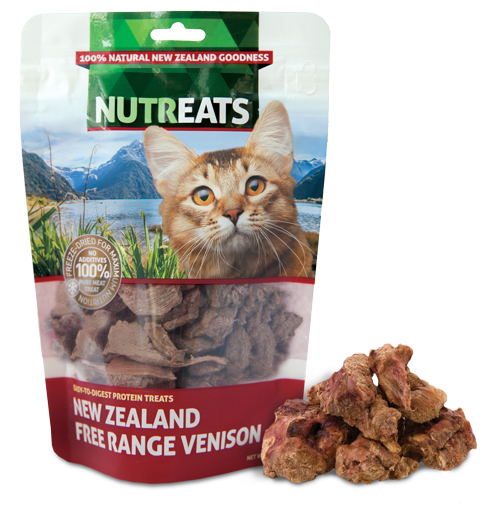 Nutreats Freeze Dried Free Range Venison Treats for Cats