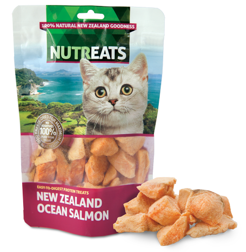 Nutreats Freeze Dried Ocean Salmon Treats for Cats