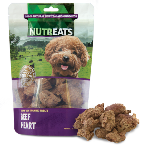 Nutreats Freeze Dried Beef Heart Treats for Dogs