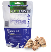 Nutreats Freeze Dried Beef Trachea Treats for Dogs