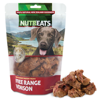 Nutreats Freeze Dried Free Range Venison Treats for Dogs