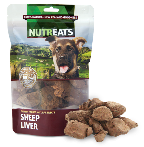 Nutreats Freeze Dried Sheep Liver Treats for Dogs