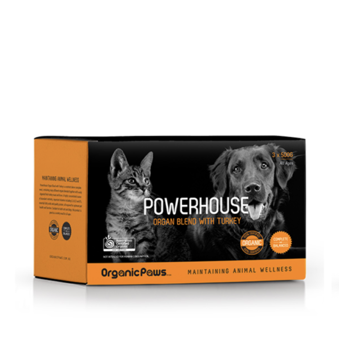 Organic Paws Frozen Raw Power Blend - Turkey