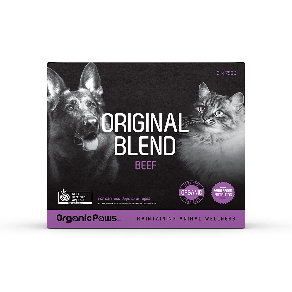 Organic Paws Frozen Raw Original Blend - Beef