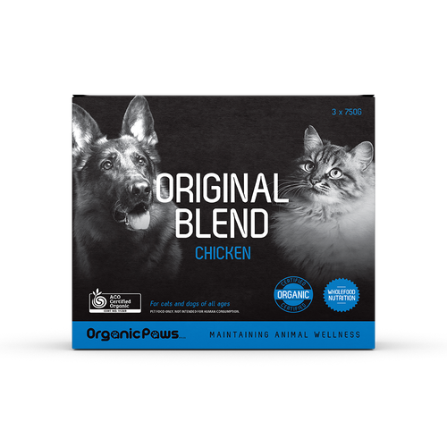 Organic Paws Frozen Raw Original Blend - Chicken